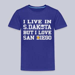 Live South Dakota Love San Diego - Toddler Premium T-Shirt