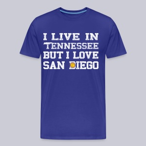 Live Tennessee Love San Diego - Men's Premium T-Shirt