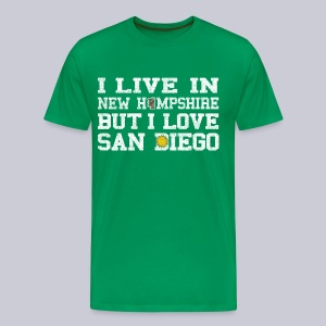 Live New Hampshire Love San Diego - Men's Premium T-Shirt