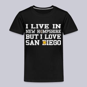 Live New Hampshire Love San Diego - Toddler Premium T-Shirt