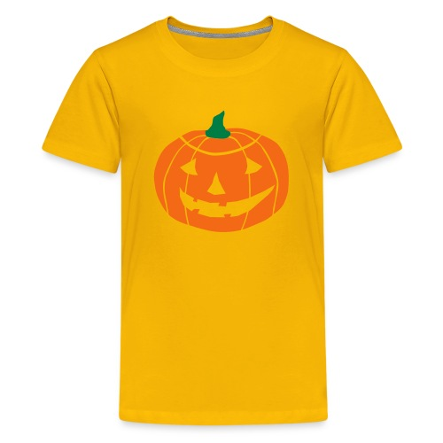 Cheerful Halloween Pumpkin - Kids' Premium T-Shirt