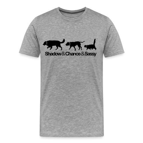 Homeward Bound - Black Print - Men's Premium T-Shirt