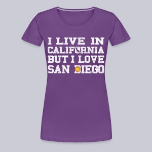 Live California Love San Diego - Women's Premium T-Shirt