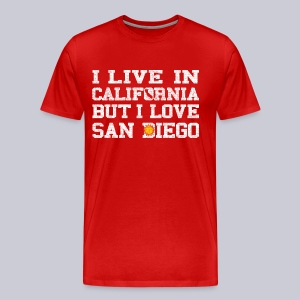 Live California Love San Diego - Men's Premium T-Shirt