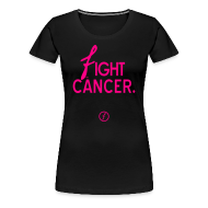 Women's T-Shirts ~ Women's Premium T-Shirt ~ Faded Anti Cancer tee