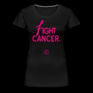 Women's T-Shirts ~ Women's Premium T-Shirt ~ Faded Anti Cancer tee