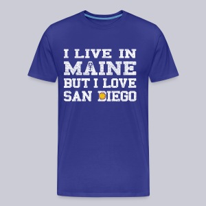 Live Maine Love San Diego - Men's Premium T-Shirt