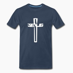 Jesus Word Cross Crucifix  T-Shirts