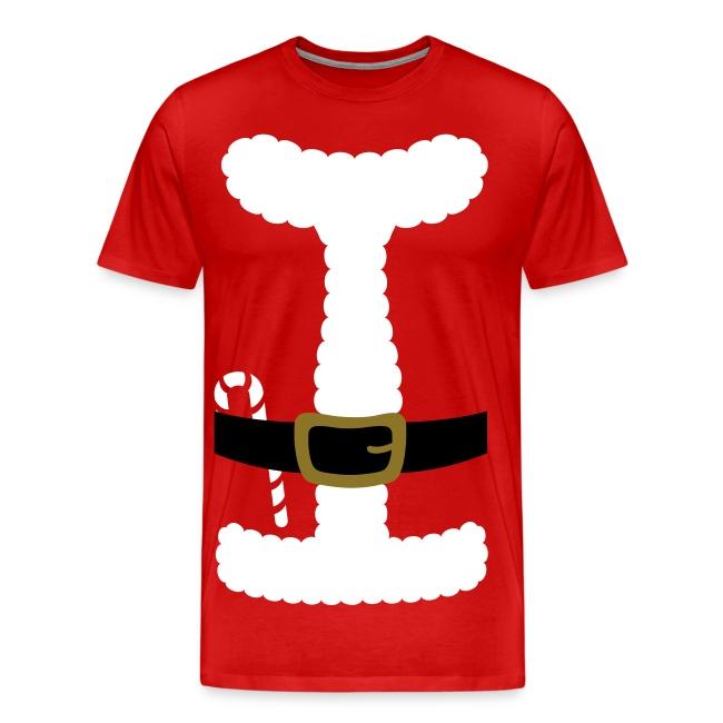 SANTA CLAUS SUIT - Men's 3XL/4XL Shirt