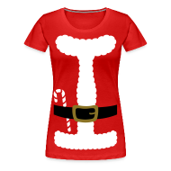 T-Shirts ~ Women's Premium T-Shirt ~ SANTA CLAUS SUIT - Women's Plus Size