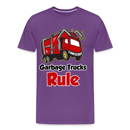 Garbage Trucks Rule - Men's Premium T-Shirt