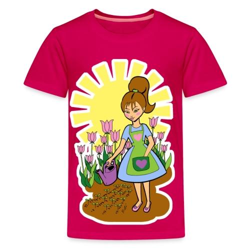 Girl's Garden T-shirt - Kids' Premium T-Shirt