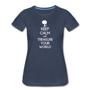 ISFP ~ Keep Calm and Treasure Your World Women's T-shirt - Women's Premium T-Shirt