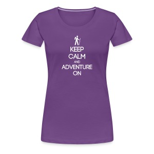 ENFP ~ Keep Calm and Adventure On Woman's T-shirt - Women's Premium T-Shirt
