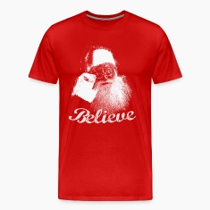 Santa Claus BELIEVE Monochrome T-shirt