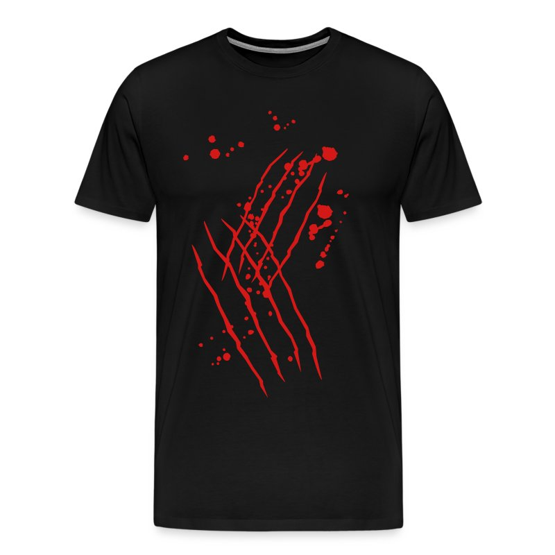 Scratch mark with blood t shirt spreadshirt for Making a shirt from scratch