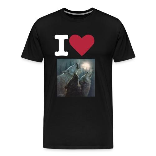 i love wolves - Men's Premium T-Shirt