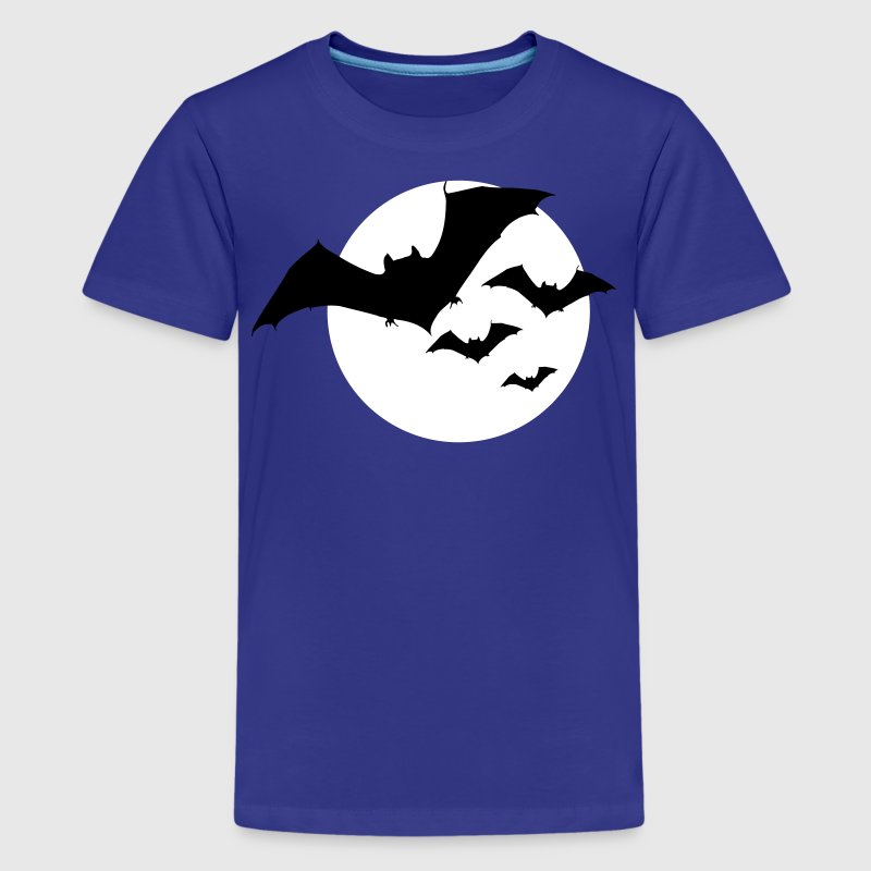 Bats and Moon / Moonshine Bat 2c Kids' Shirts - Kids' Premium T-Shirt
