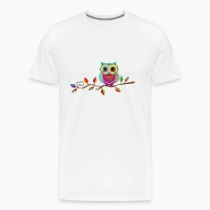Owl sitting on a branch T-Shirts