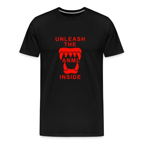 ANML Black T-Shirt With ANML Logo And Text - Men's Premium T-Shirt
