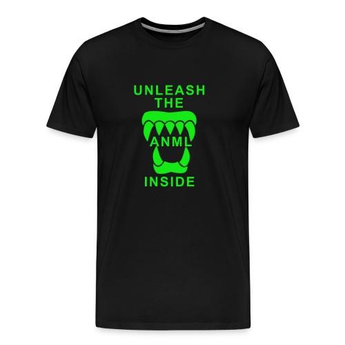 ANML Black T-Shirt With ANML Logo And Text - Men's Premium T-Shirt
