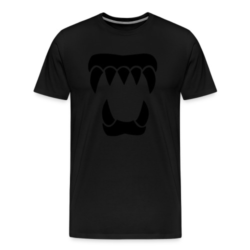 ANML Black T-Shirt With Official ANML Logo - Men's Premium T-Shirt