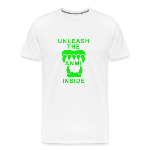 ANML White T-Shirt With ANML Logo And Text - Men's Premium T-Shirt