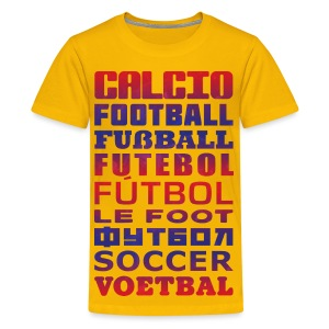 Soccer Languages Kids' T-Shirt - Kids' Premium T-Shirt