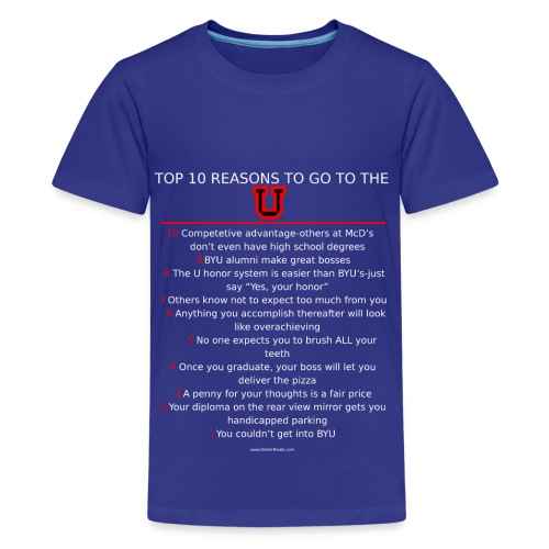 Kids Top 10 reasons to be a Ute - Kids' Premium T-Shirt