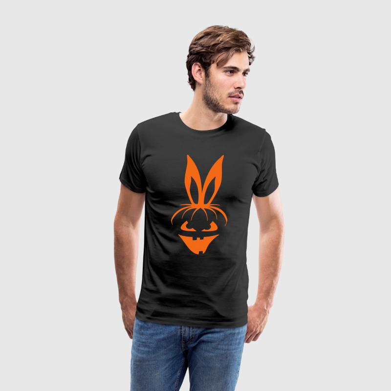 pumpkin bunny rabbit ears halloween hare scary  T-Shirts - Men's Premium T-Shirt