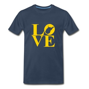 West Virginia Love - Men's Premium T-Shirt