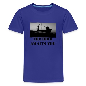 Freedom Awaits You - Kids' Premium T-Shirt