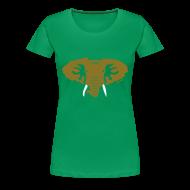 Women's T-Shirts ~ Women's Premium T-Shirt ~ Hellaphant - Metallic Gold - Women's Tee