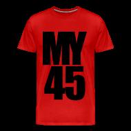 T-Shirts ~ Men's Premium T-Shirt ~ My 45 Behind Me ( a DJ Tee) Mens T Shirt