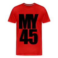 T-Shirts ~ Men's Premium T-Shirt ~ My 45 Behind Me ( a DJ Tee) Mens T Shirt