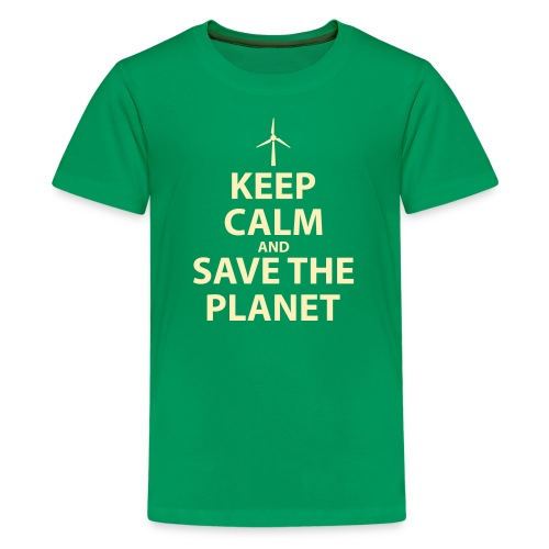 Keep Calm and Save The Planet - Kids' Premium T-Shirt