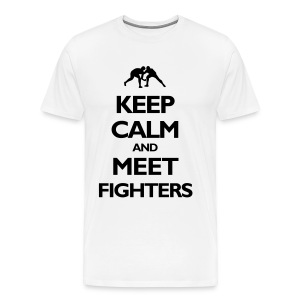 Keep Calm / Fist light T-Shirt - Men's Premium T-Shirt