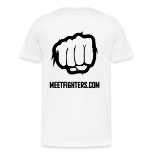 Meet and Fight / Fist light T-Shirt - Men's Premium T-Shirt