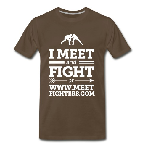 Meet and Fight / Fist dark T-Shirt - Men's Premium T-Shirt