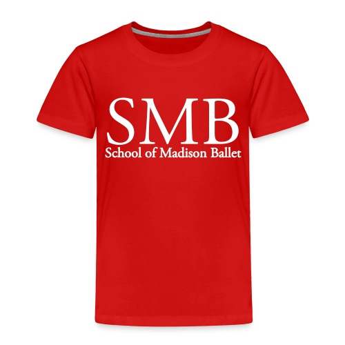 School of Madison Ballet Toddler T-Shirt (Red/White) - Toddler Premium T-Shirt