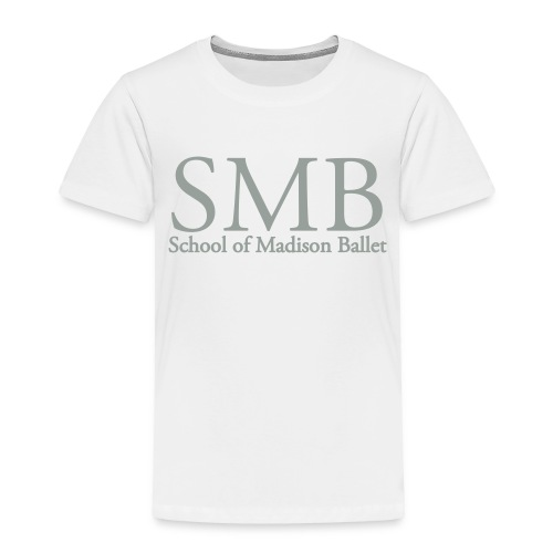 School of Madison Ballet Toddler T-Shirt (White/Gray) - Toddler Premium T-Shirt