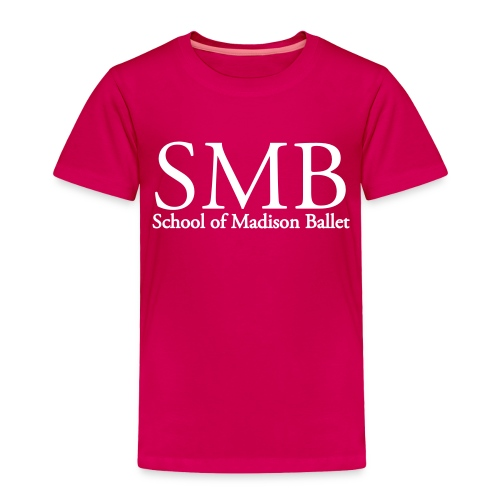 School of Madison Ballet Toddler T-Shirt (Pink/White) - Toddler Premium T-Shirt