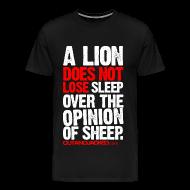 T-Shirts ~ Men's Premium T-Shirt ~ A Lion | Mens Larger Sized Tee