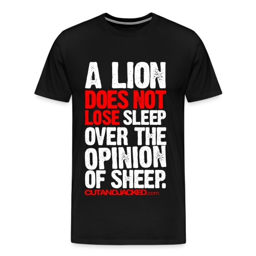 A Lion | Mens Larger Sized Tee - Men's Premium T-Shirt