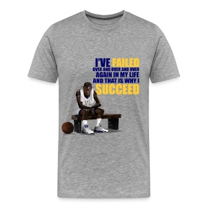 Laney 5s shirts-Jordan I've failed-grey - Men's Premium T-Shirt