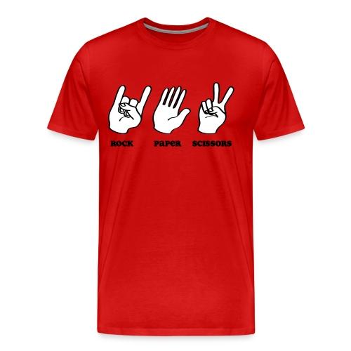 Rock Paper Scissors Music - Men's Premium T-Shirt
