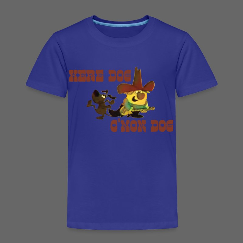Here Dog, C'mon Dog - Toddler Premium T-Shirt