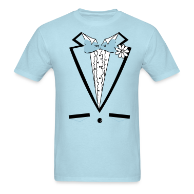 Vintage Blue Tuxedo Bachelor Party T Shirt