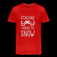 T-Shirts ~ Men's Premium T-Shirt ~ Staching Through the Snow T-Shirt