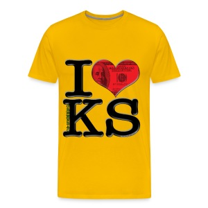 I Love KS - greenbacKS (for light-colored apparel) - Men's Premium T-Shirt